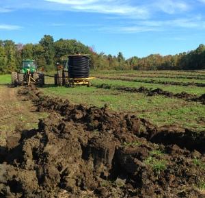 Sept 2014 - Forman Farms finishes Tiling Pt. 2