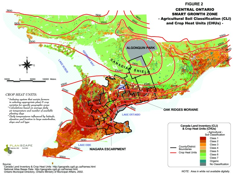 Ontario Soil Capability Map