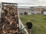Bringing wood to Old Fort Henry