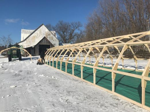 Greenhouse going up